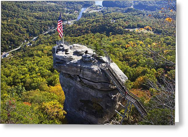 Chimney Rock North Carolina Greeting Cards - Chimney Rock North Carolina Greeting Card by Pierre Leclerc Photography