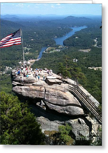 Chimney Rock North Carolina Greeting Cards - Chimney Rock Greeting Card by Reid Callaway