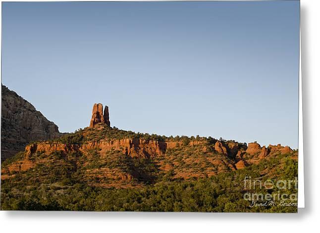 Chimney Rock Greeting Cards - Chimney Rock Sedona AZ Greeting Card by David Gordon