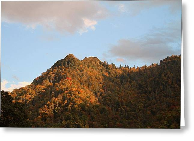 Gatlinburg Tennessee Greeting Cards - Chimney Top Greeting Card by Dan Sproul
