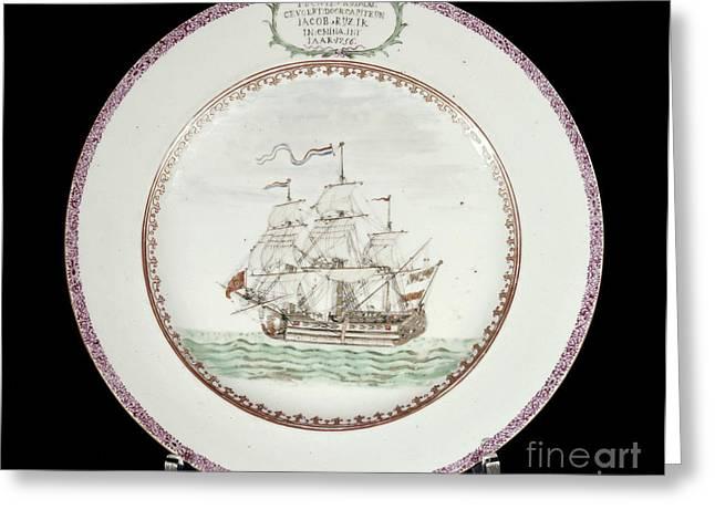 China - Dutch Ship 1756 Greeting Card by Granger