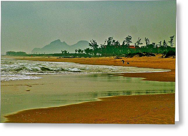 China Beach Greeting Cards - China Beach on the South China Sea-Vietnam  Greeting Card by Ruth Hager