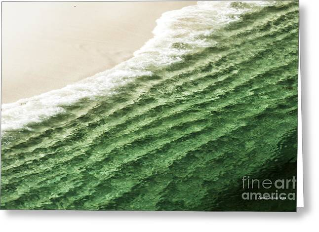 China Beach Wave Greeting Card by Artist and Photographer Laura Wrede