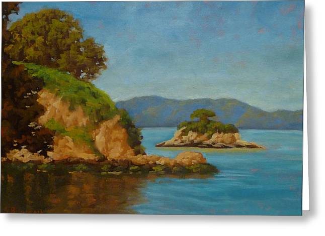 China Camp And Rat Island Greeting Card by Steven Guy Bilodeau