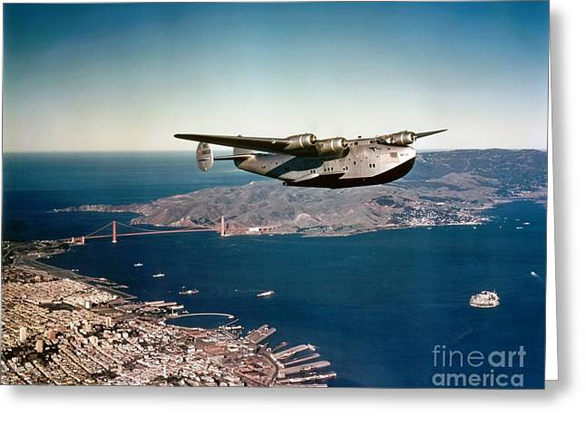 China Clippers Greeting Cards - China Clipper 2 Greeting Card by Pg Reproductions