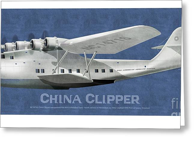 China Clippers Greeting Cards - China Clipper NC 14716 Greeting Card by Kenneth De Tore