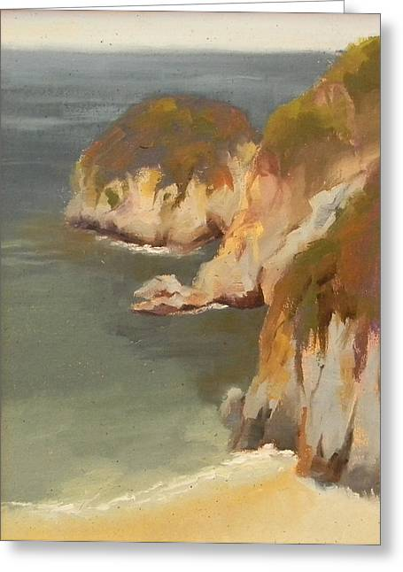 Point Lobos Greeting Cards - China Cove at Point Lobos Greeting Card by Fiorenza Gorini
