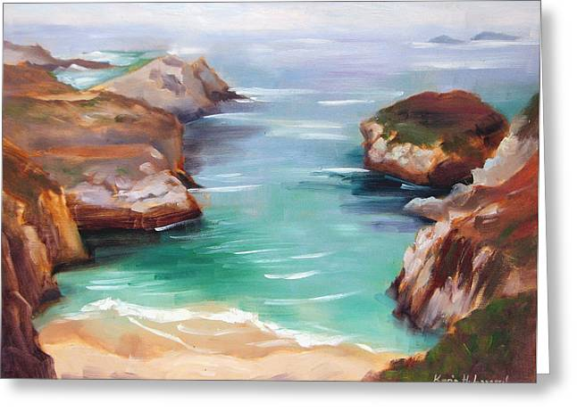 China Cove Greeting Cards - China Cove Colors Greeting Card by Karin  Leonard