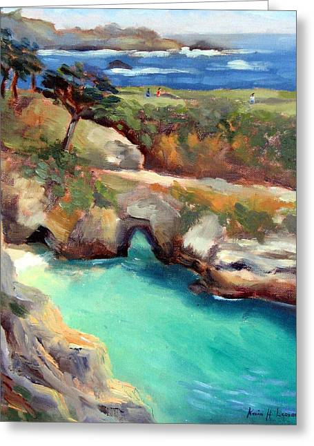 China Cove Point Lobos Greeting Card by Karin  Leonard
