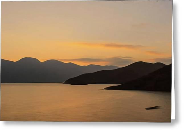 China Beach Greeting Cards - China Lugu Lake scenery Greeting Card by Lanjee Chee
