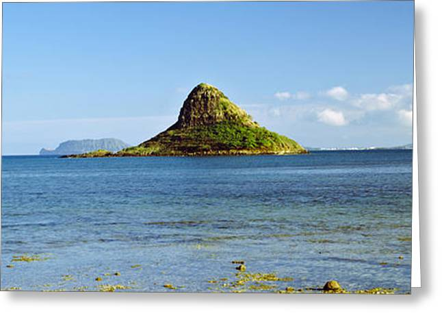 Ocean Photography Greeting Cards - China Mans Hat, Oahu, Hawaii, Usa Greeting Card by Panoramic Images