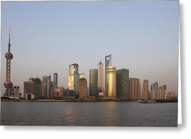 River View Greeting Cards - China, Shanghai, Pudong Skyline © Greeting Card by Tips Images