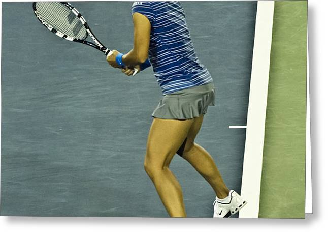 CHINA TENNIS STAR LI NA Greeting Card by REXFORD L POWELL