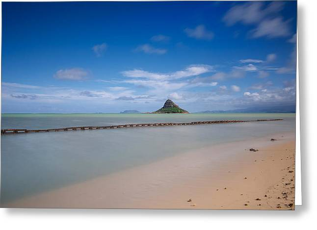 Koolina Greeting Cards - Chinamans hat Mokolii in Hawaii Greeting Card by Tin Lung Chao