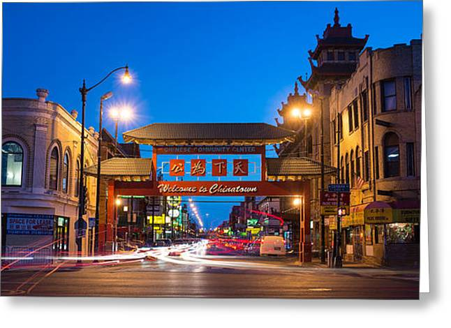 Asian Culture Greeting Cards - Chinatown Chicago Greeting Card by Steve Gadomski