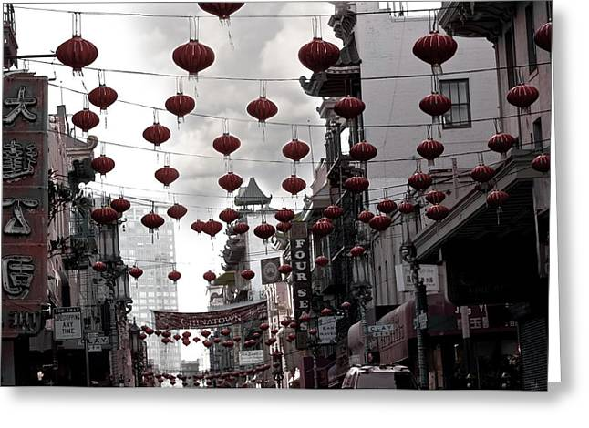 Chinatown Greeting Card by Larry Butterworth
