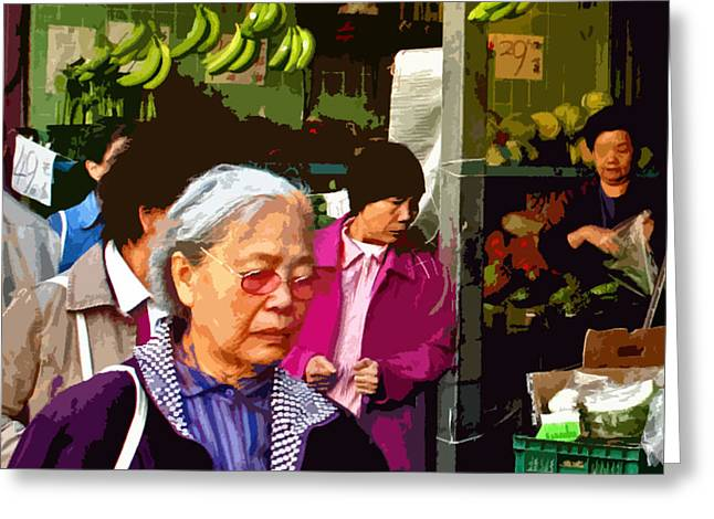 Chinatown Marketplace Greeting Card by Joseph Coulombe