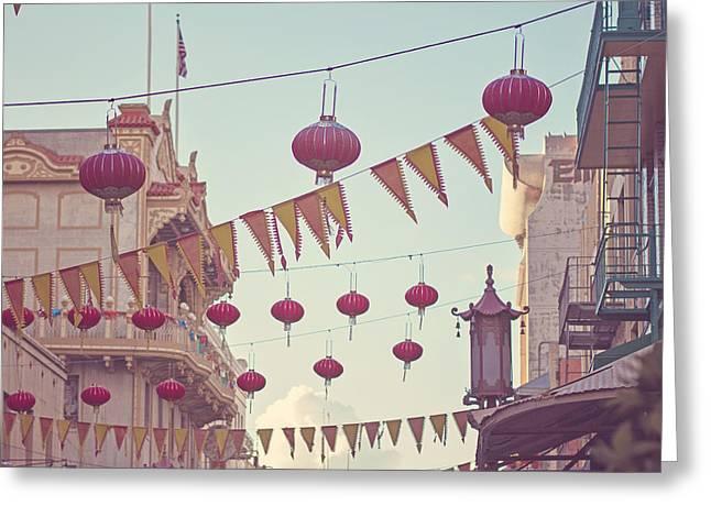 Chinatown Greeting Card by Melanie Alexandra Price