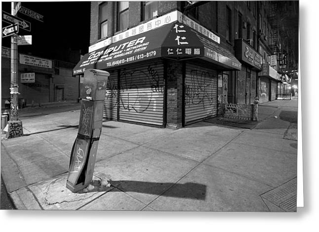 Emerging Artist Greeting Cards - ChinaTown New York - Division and Ludlow street Greeting Card by Gary Heller