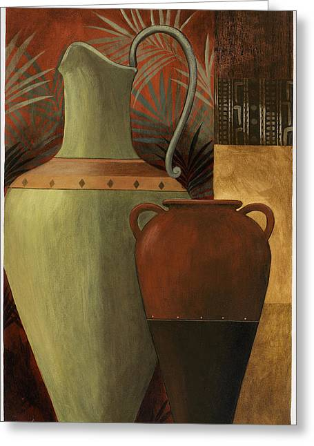 Pablo Paintings Greeting Cards - Chines Urn 2 Greeting Card by Pablo Esteban