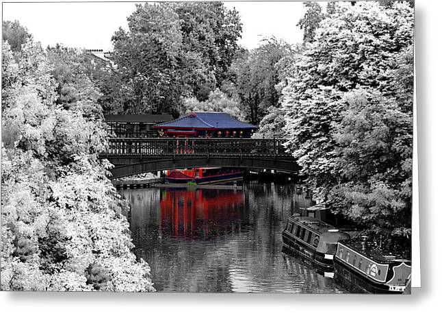 Chinese Architecture In Regent's Park Greeting Card by Maj Seda