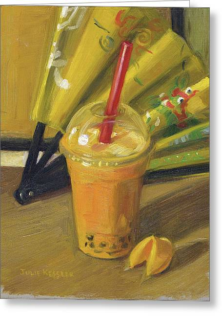 Take-out Greeting Cards - Chinese Bubble Tea Greeting Card by Julie Kessler