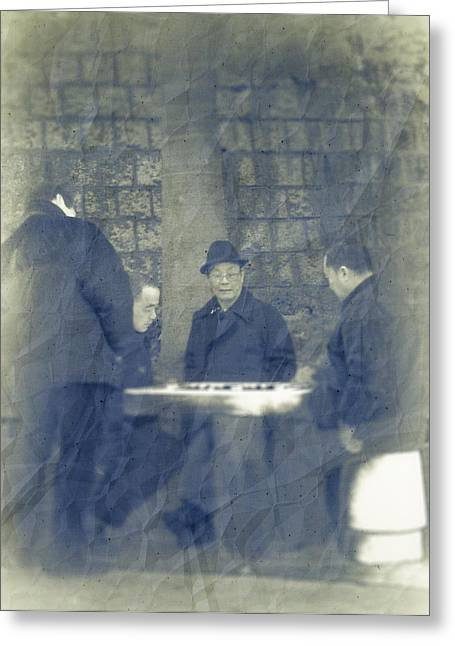 Chess Player Greeting Cards - Chinese Chess Players Greeting Card by Loriental Photography