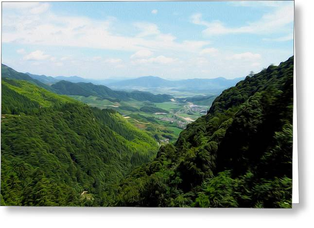 Southern Province Greeting Cards - Chinese countryside Greeting Card by Tracy Winter