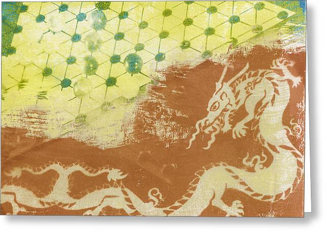 Process Greeting Cards - Chinese Dragon Greeting Card by Caitlyn  Grasso