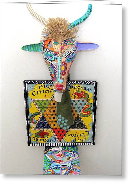Sculpey Greeting Cards - Chinese GNU Year Greeting Card by Keri Joy Colestock