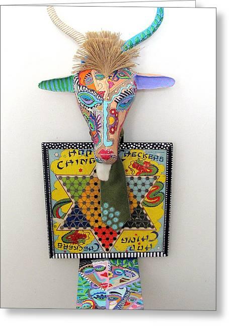 Sculpey Greeting Cards - Chinese GNU Year Greeting Card by Keri Joy Colestock