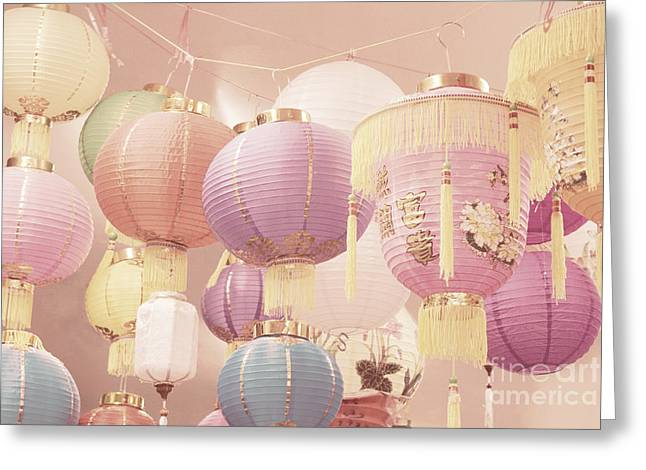 Festivities Greeting Cards - Chinese lanterns Greeting Card by Cindy Garber Iverson