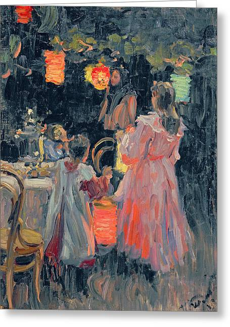 Ivan Greeting Cards - Chinese Lanterns Greeting Card by Ivan Semyonovich Kulikov