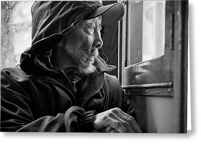 Citizens Photographs Greeting Cards - Chinese Man Greeting Card by Dave Bowman