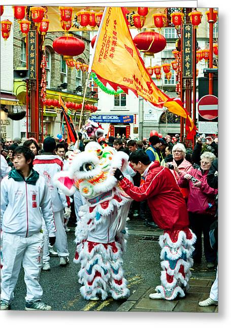 Tigers Tradition Greeting Cards - Chinese New Year Greeting Card by Wendy Le Ber