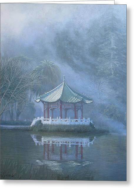 Strawberry Hill Greeting Cards - Chinese Pavilion Greeting Card by Leonard Filgate