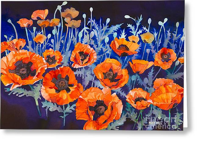 Mike Hill Greeting Cards -  Poppies Pleasure and Pain Greeting Card by Mike Hill