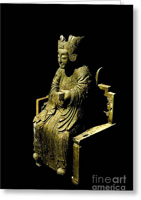 Michelle Greeting Cards - Chinese Statue Greeting Card by Michelle Meenawong