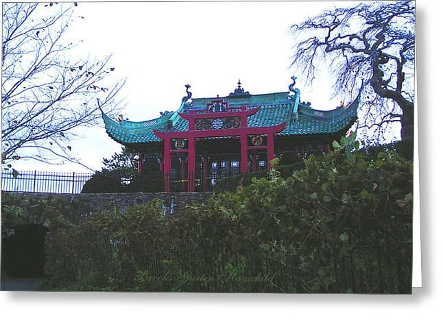 Chinese Tea House Greeting Card by Brooks Garten Hauschild