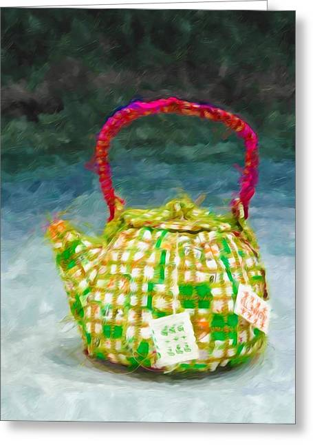 Oriental Teapot Greeting Cards - Chinese teapot 1 Greeting Card by Lanjee Chee
