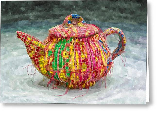 Oriental Teapot Greeting Cards - Chinese teapot 2 Greeting Card by Lanjee Chee