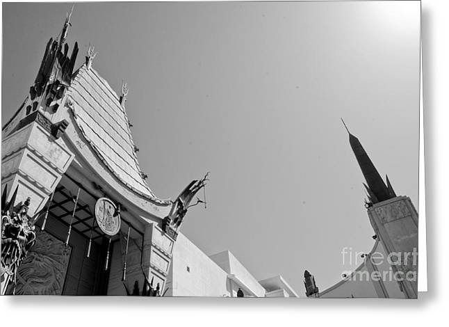 Chinese Theater Greeting Card by Dan Holm
