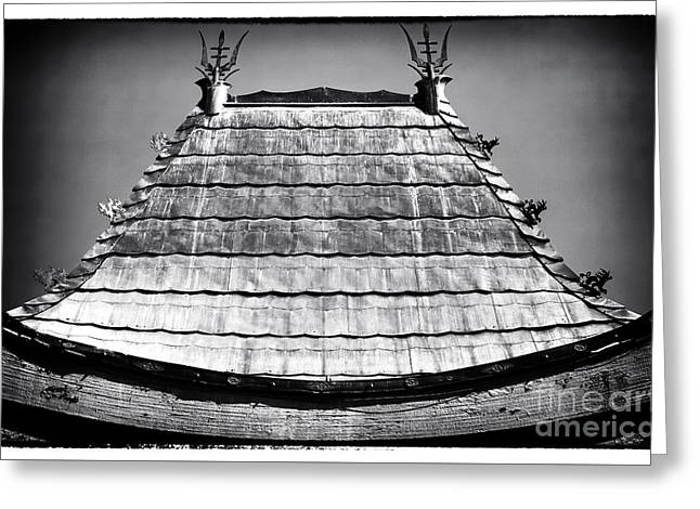 California Contemporary Gallery Greeting Cards - Chinese Theater Roof Greeting Card by John Rizzuto