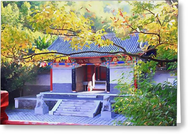 Southern Province Paintings Greeting Cards - Chinese Traditional Home Greeting Card by Lanjee Chee
