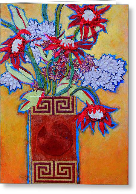 Diane Fine Greeting Cards - Chinese Vase Greeting Card by Diane Fine