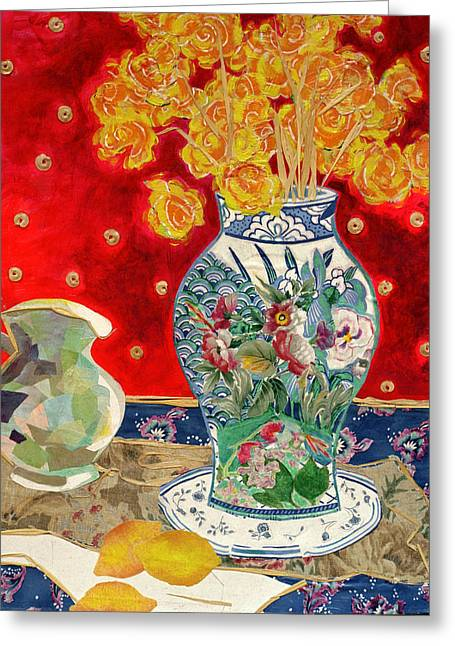 Diane Fine Greeting Cards - Chinoiserie Greeting Card by Diane Fine