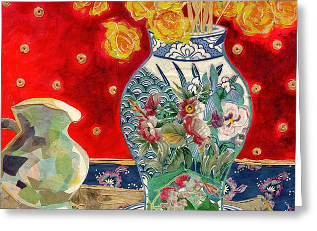 Chinoiserie Greeting Card by Diane Fine