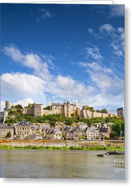 Chateau Greeting Cards - Chinon Loire Valley France Greeting Card by Colin and Linda McKie