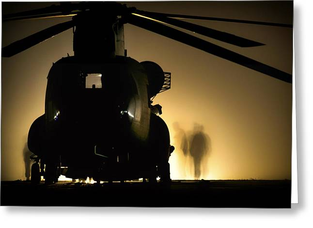 Chinook Greeting Cards - Chinook Silhouette Greeting Card by Mountain Dreams