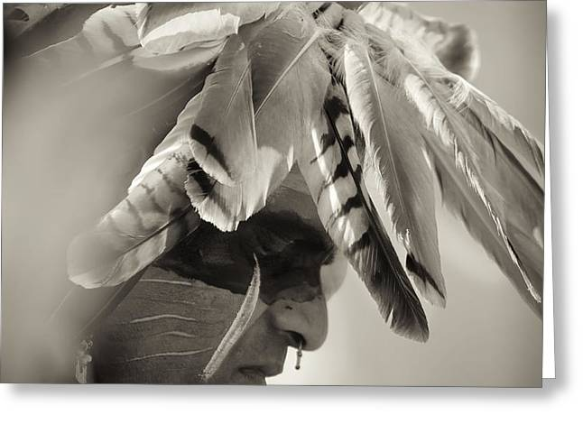 Chippewa Indian dancer Greeting Card by Dick Wood